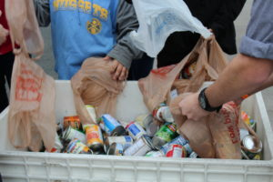 Students collect canned food at LIVE