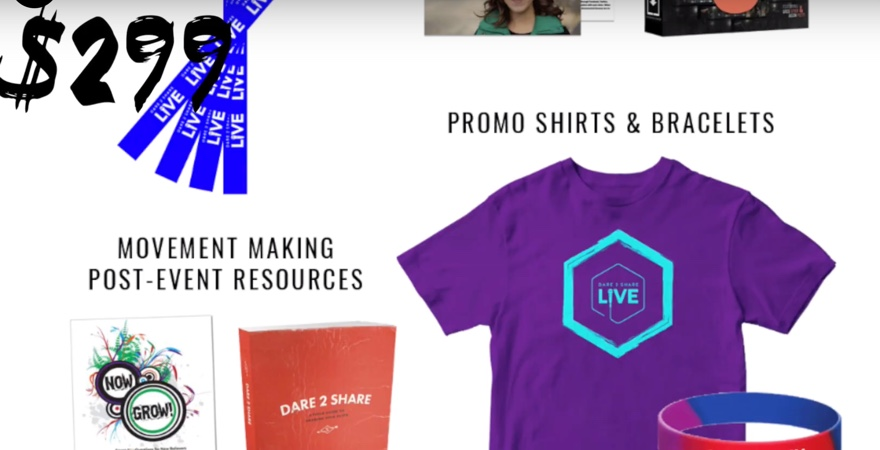 What's Inside the Dare 2 Share LIVE Church Kit?